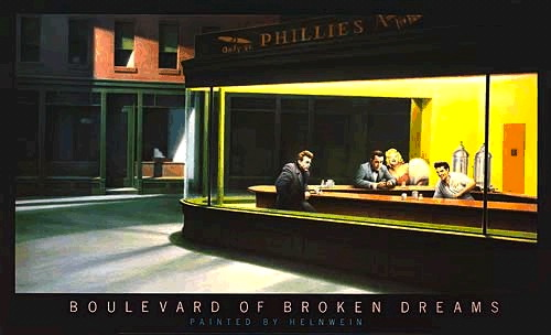 Boulevard of broken dreams painting parody