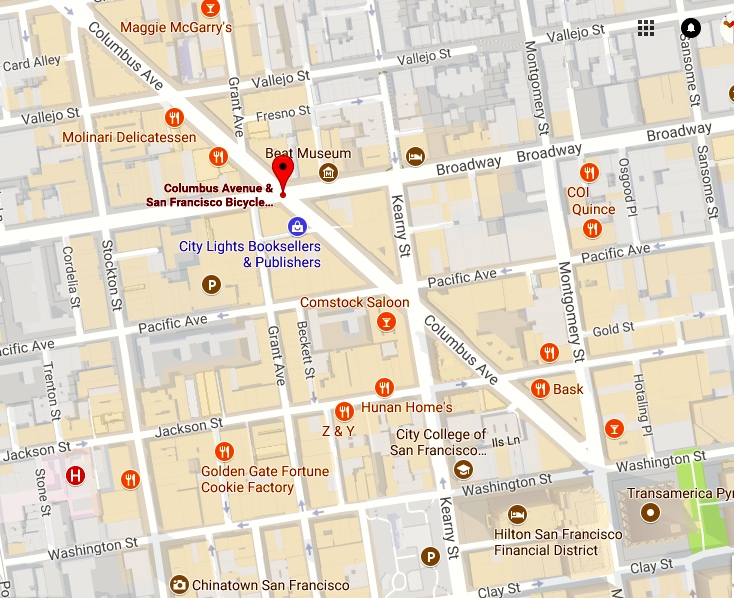 Mapping The Bookstores Arnold Zwickys Blog - San francisco map financial district