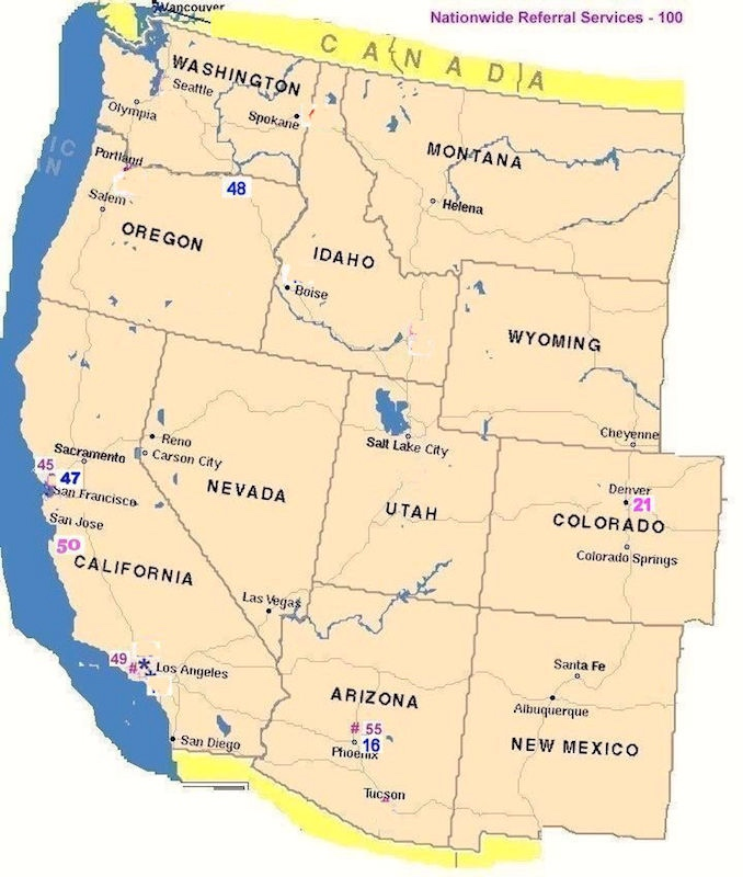 the greater west coast area