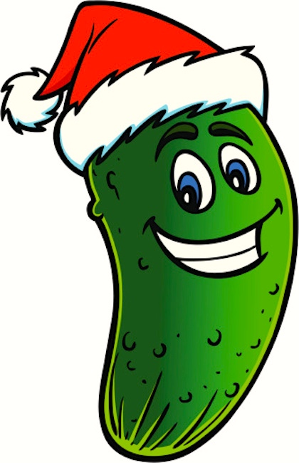 though that feature might have contributed a bit to the attractions of the story and we now have jaunty anthropomorphic images of the christmas pickle - Christmas Pickle Story