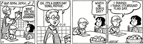 When is Doris Day?