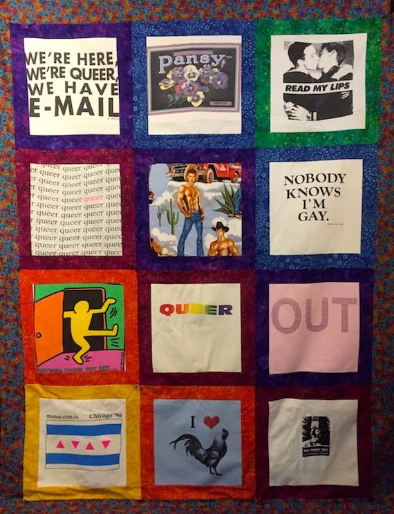 Gay under quilt