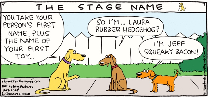 Stage names for dogs | Arnold Zwicky's Blog