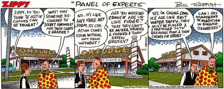 Comic strip simile that
